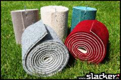 2 Teppichlis als zusätzlichen Baumschutz für unter die Slacker-Baumschlingen. Gibt's zu jedem Slacker-Set gratis dazu.